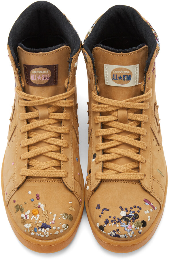 Thumbnail for your product : Converse Brown Bandulu Edition Pro Leather High Sneakers