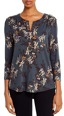 Daniel Rainn Floral Three-Quarter Sleeve Top