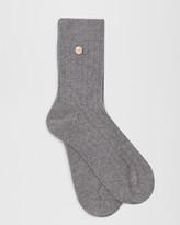 Cashmere-blend Button Socks
