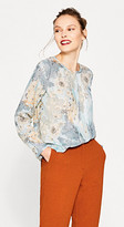 Esprit Delicate print blouse in flowing fabric