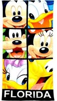 Disney Mickey Mouse and Friends Blocked Out Minnie Goofy Pluto Donald Daisy Beach Towel