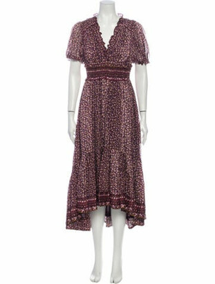 Ulla Johnson Silk Long Dress Purple