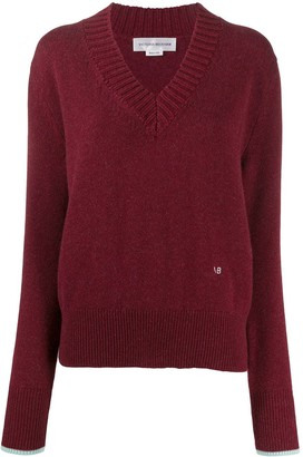 Victoria Beckham Long-Sleeved V-Neck Jumper