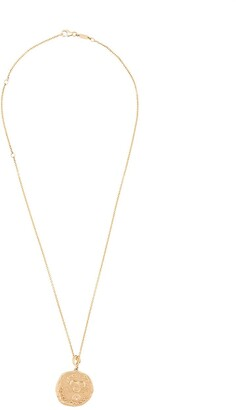 Azlee 18kt yellow gold large Karkinos diamond coin charm necklace