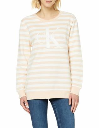 Calvin Klein Jeans Women's True Icon Cn HWK Stripe Sweatshirt