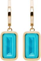 Alina Abegg Pfefferminz Turquoise 14K Yellow Gold Hoop Earrings