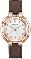 Zales Ladies' Special Edition Bulova Rubaiyat Lady Ganga Diamond Accent Strap Watch with Silver-Tone Dial (Model: 97P131)