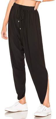 Bobi Draped Modal Jersey Asymmetrical Hem Pant