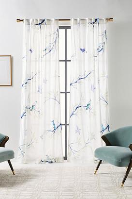 "Anthropologie Jasmine Curtain By in Blue Size 50"" X 96"""