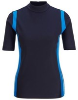 BOSS Slim-fit top with colourful stripes and rear zip