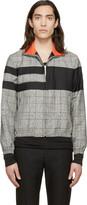 Kris Van Assche Krisvanassche Black Check & Stripe Wool Jacket