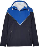 Tory Sport Hooded Color-block Shell Track Jacket - Blue