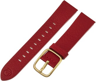 Hadley Roma b&nd by Hadley-Roma with Mode Red 20mm Genuine Leather Watch Band