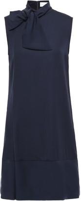Victoria Victoria Beckham Knotted Crepe Mini Dress