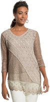 Chico's Texture Mix Modern Pullover Top