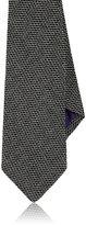 Ralph Lauren Purple Label Men's Textured-Weave Wool-Silk Necktie-BLACK
