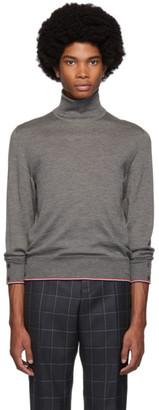 Thom Browne Grey Cashmere Classic Turtleneck