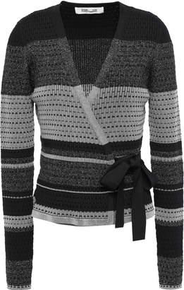 Diane von Furstenberg Metallic Crocheted Wrap Top