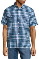 Tommy Bahama Short-Sleeve Plaid Cotton Casual Shirt