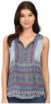 Gypsy 05 Gypsy05 Sleeveless Button Bib Shirttail Tank Top