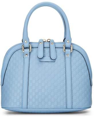 Gucci Blue Microguccissima Leather Dome Mini