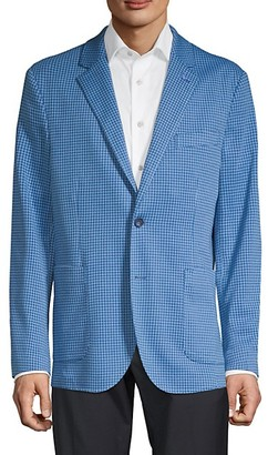 Tailorbyrd Standard-Fit Mini Check Knit Sportcoat