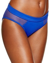 DKNY Mesh Effect Splice Hipster Bikini Bottom