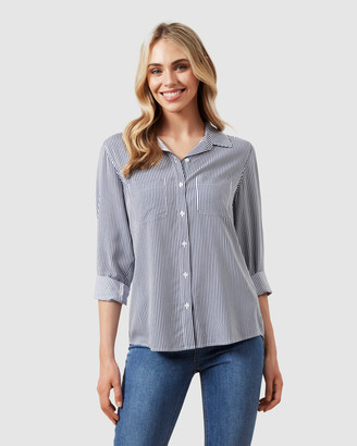 French Connection Women's Shirts & Blouses - Soft Essential Shirt - Size One Size, 8 at The Iconic