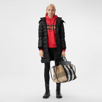 Burberry Detachable Hood Rib Knit Panel ECONYL Puffer Coat
