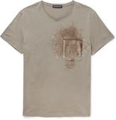 Alexander Mcqueen - Slim-fit Sequinned Cotton-jersey T-shirt