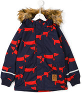 Mini Rodini dog print parka coat