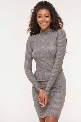Ardene Ribbed Mock Neck Bodycon Dress