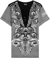 Just Cavalli Printed Top with Lace-Up Front