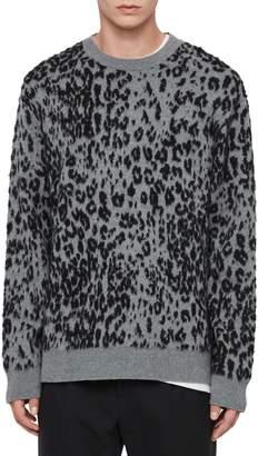AllSaints Wildcat Crewneck Wool Blend Sweater