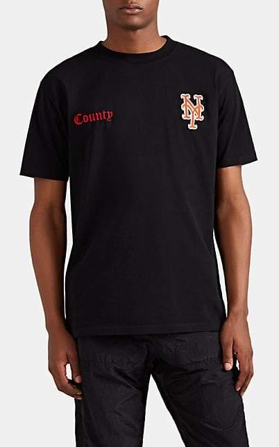 Marcelo Burlon County of Milan Men's NY MetsTM Cotton T-Shirt - Black
