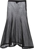 Calvin Klein - jupe transparente à go