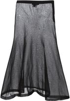 Calvin Klein sheer A-line skirt
