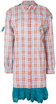 Marco De Vincenzo checked patchwork shirt