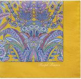 Ralph Lauren Purple Label Floral Pattern Silk Pocket Square