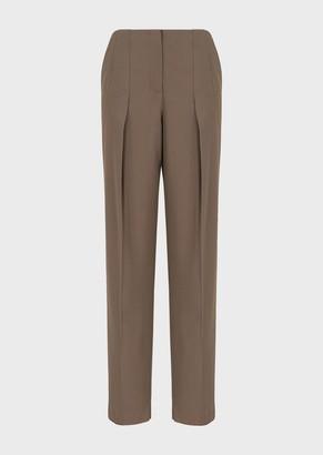 Giorgio Armani Stretch Wool Darted Trousers