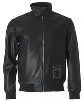 Mcq Alexander Mcqueen Perforated Leather Harrington Jacket