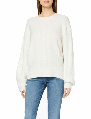 Dorothy Perkins Women's Cream Batwing Plain Cable Jumper Sweater SML