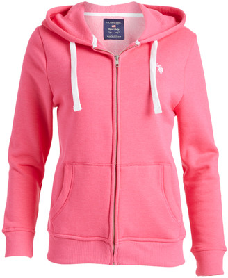 U.S. Polo Assn. Women's Sweatshirts and Hoodies Pink - Pink Orliander Zip Up Hoodie - Women