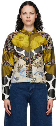 Marques Almeida Multicolor Patchwork Biker Jacket