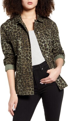 Good American Camo Snap Front Jacket