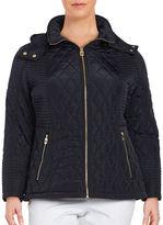 MICHAEL Michael Kors Plus Quilted Zip-Front Jacket