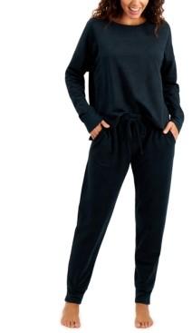 Alfani French Terry Pajama Set, Created for Macy's