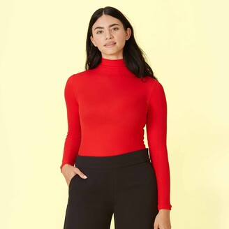 Summersalt The Day to Night Long Sleeve Bodysuit - Lava