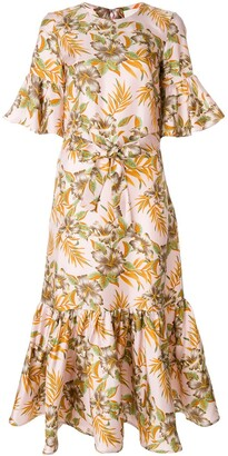 La DoubleJ Curly Swing Polinesia dress