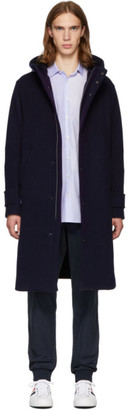Herno Navy Double-Face Wool Duffle Coat